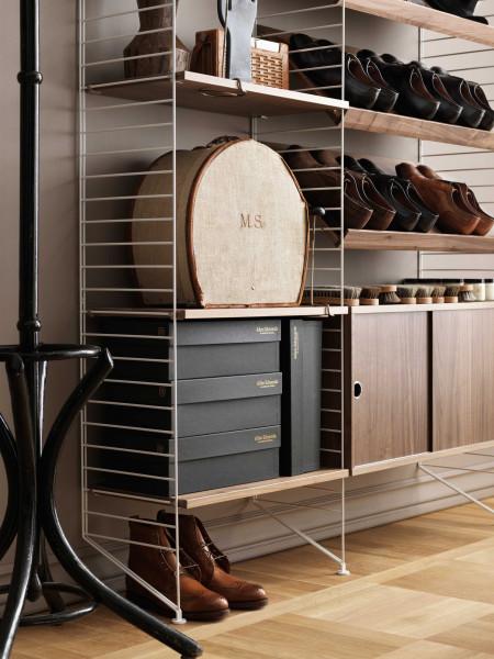String Furniture Hoge kast x-large, grijs