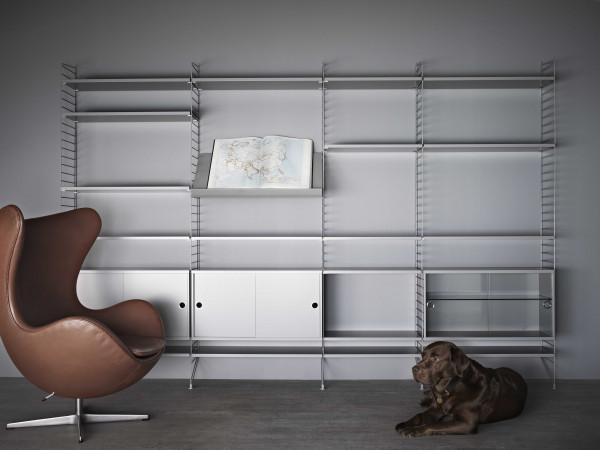 String Furniture Hoge kast 2 large, grijs