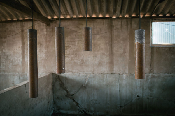 Graypants Roest Vertical 45 hanglamp