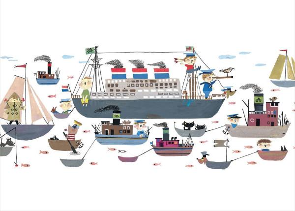 KEK Amsterdam Holland America Line behang (afbeelding)