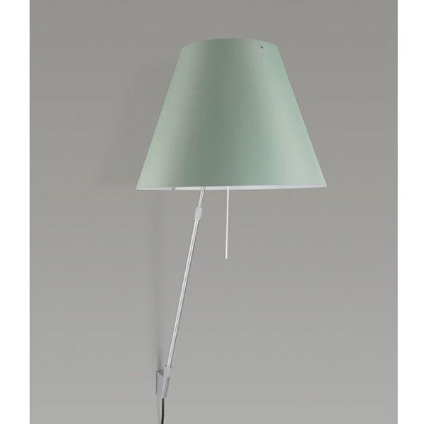 Luceplan Costanza wandlamp telescopisch met dimmer aluminium