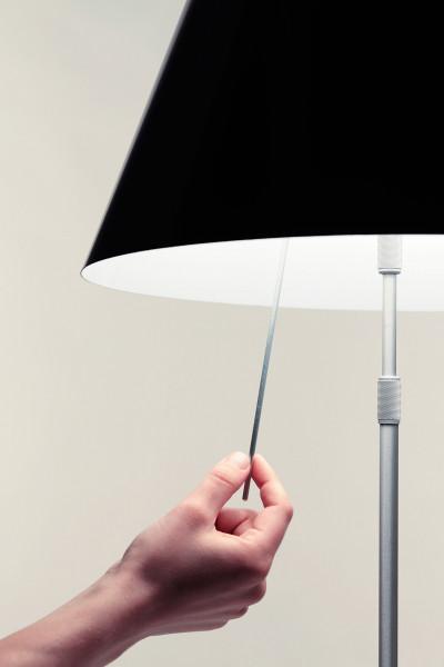Luceplan Costanza vloerlamp telescopisch met dimmer zwart