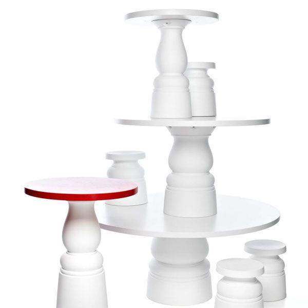 Moooi Container tafel Ø90 HPL wit