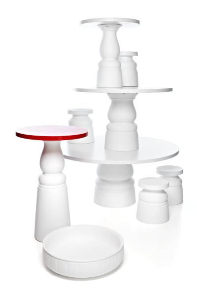 Moooi Container tafel Ø120 HPL wit