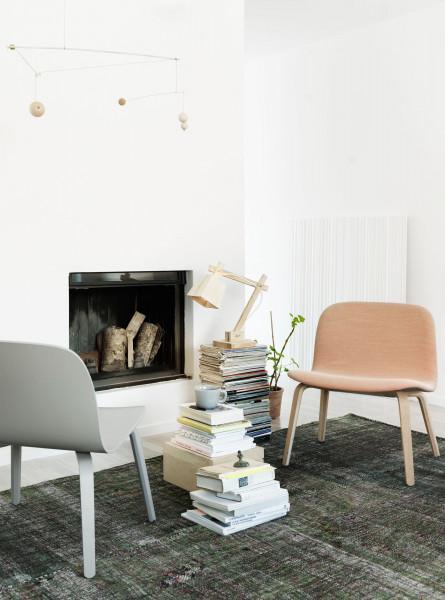 Muuto Visu loungestoel hout