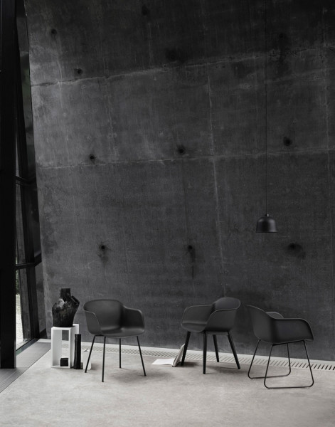 Muuto Fiber Wood gestoffeerde stoel