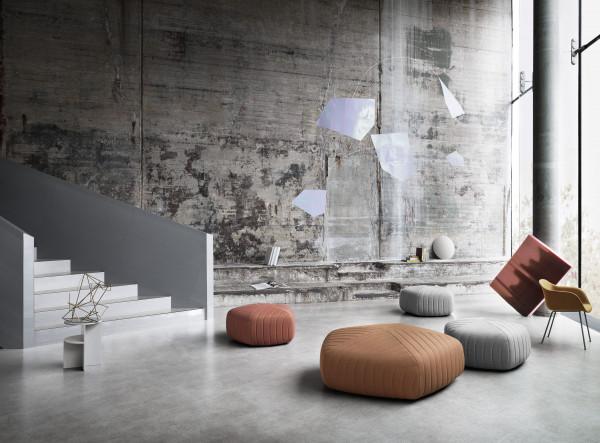 Muuto Fiber Tube Front Upholstery stoel
