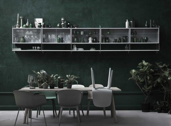 Muuto 70/70 tafel 225 eetkamerset + 6 Fiber side wood stoelen