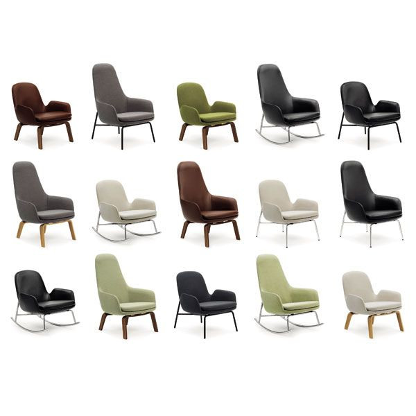 Normann Copenhagen Era Lounge Chair High loungestoel met walnoten onderstel