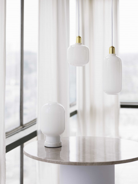 Normann Copenhagen Amp Lamp Brass hanglamp small