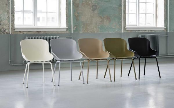 Normann Copenhagen Hyg stoel met stalen onderstel