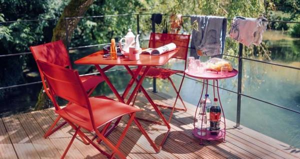 Fermob Plein Air tuinset 71x71 tafel + 2 stoelen
