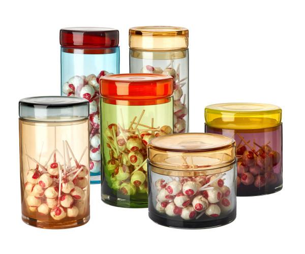 Pols Potten Caps Jars Multi voorraadpotten set van 3