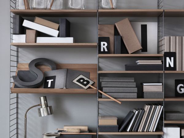 String Furniture Magazine Shelf Wood 58 x 30 cm