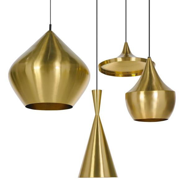 Tom Dixon Beat Light Tall hanglamp halo messing
