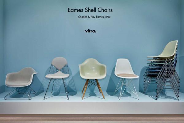 Vitra Eames DSR stoel wit gepoedercoat onderstel