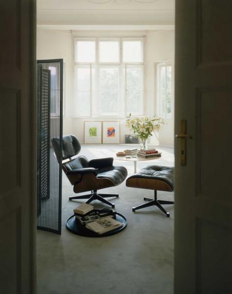 Vitra Ottoman voor Lounge chair zwart