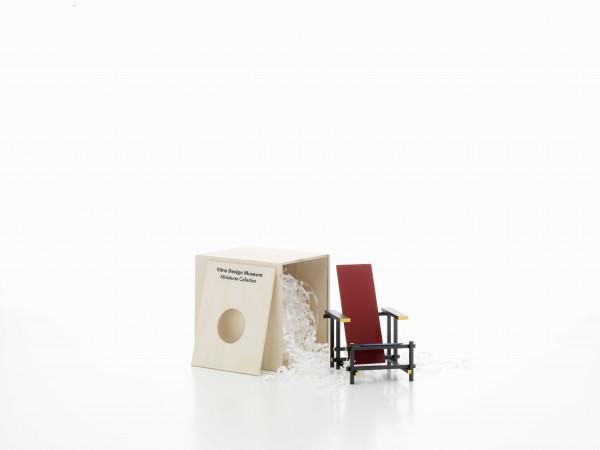 Vitra Rood blauwe stoel miniatuur