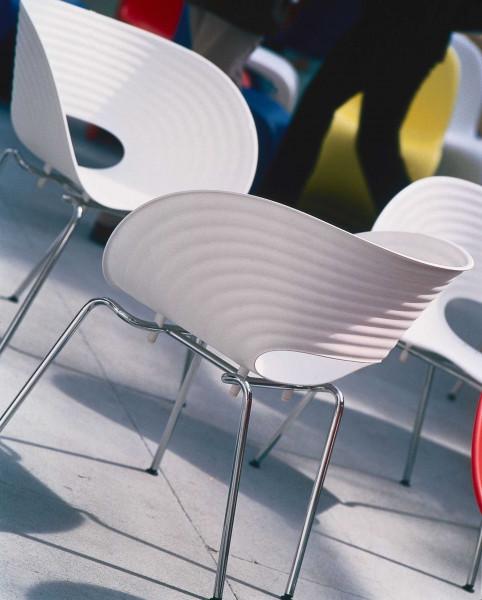 Vitra Tom Vac stoel onderstel poedercoating zilver