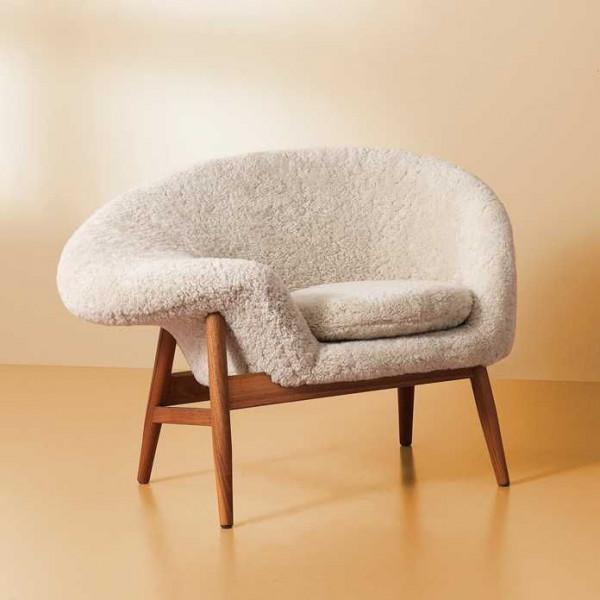 Warm Nordic Fried Egg Sheepskin fauteuil