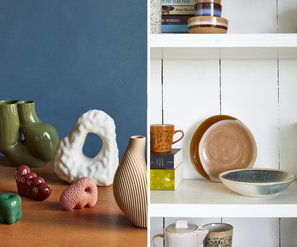 HKliving 70's Ceramic Dessert schaal set van 4