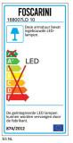 Foscarini Gregg Media hanglamp 31cm LED dimbaar wit