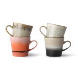 HKliving 70's Ceramic Americano mok set van 4