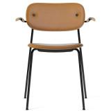 Menu Co Chair stoel gestoffeerd met armleuning zwart onderstel