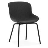 Normann Copenhagen Hyg stoel front upholstery met stalen onderstel