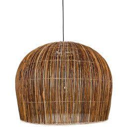 Ay illuminate Rattan Bell hanglamp large