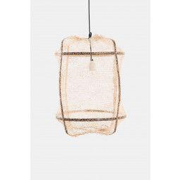 Ay illuminate Tweedekansje - Z5 hanglamp zwart, sisal net tea cover