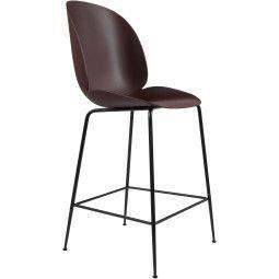 Gubi Tweedekansje - Beetle Chair barkruk 65cm met zwart onderstel darkpink