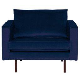 BePureHome Tweedekansje - Rodeo Velvet fauteuil donkerblauw
