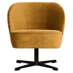 BePureHome Tweedekansje - Vogue draai fauteuil fluweel mosterd