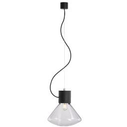 Brokis Muffins hanglamp small transparent glossy eiken zwart