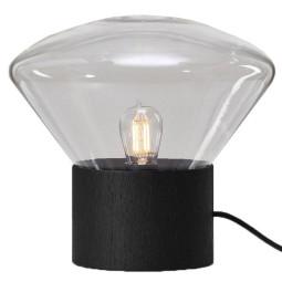 Brokis Muffins mini tafellamp transparent glossy eiken zwart