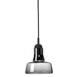 Brokis Shadows hanglamp tall smoke grey glossy eur. oak black