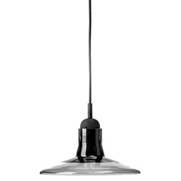 Brokis Shadows hanglamp wide smoke grey glossy eur. oak black