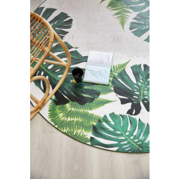 Tarkett Tweedekansje - Leaves Tropical vloerkleed vinyl 196