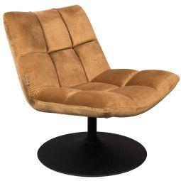 Dutchbone Tweedekansje - Bar velvet fauteuill bruin