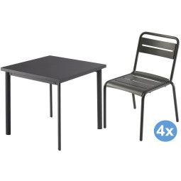 Emu Star tuinset 70x70 tafel + 4 stoelen (chair)