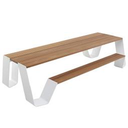 Extremis Hopper picknickset 240cm hellwood met wit onderstel