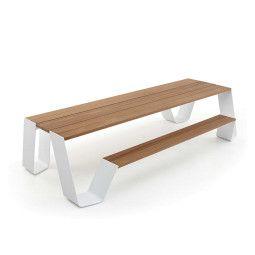 Extremis Hopper picknickset 300cm met Wit onderstel