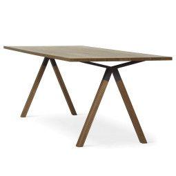 EYYE Axxe tafel 220x90 met rechte hoeken, Exclusive eikenhout