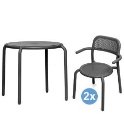 Fatboy Toni tuinset Bistreau tuintafel + 2 stoelen (armchair)