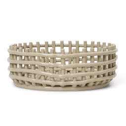 Ferm Living Ceramic basket opbergmand centerpiece