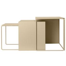 Ferm Living Tweedekansje - Cluster Tables bijzettafel set van 3 cashmere