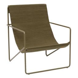 Ferm Living Desert fauteuil olive onderstel