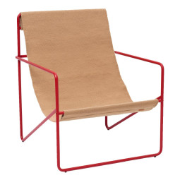 Ferm Living Desert fauteuil poppy onderstel sand