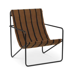 Ferm Living Desert fauteuil zwart onderstel